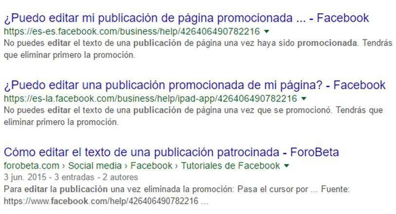 editar publicaciones promocionadas